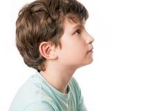 Un retrato de un niño en perfil Foto de archivo