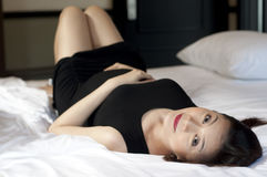 Un retrato de una mujer embarazada Fotografía de archivo