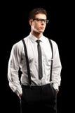 Un retrato de una presentación con estilo del hombre joven Foto de archivo