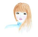 Un retrato del ` s de la muchacha stock de ilustración