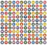 un retro colore di 144 icone Fotografie Stock Libere da Diritti