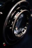 Un retro primo piano dell'obiettivo di macchina fotografica Immagine Stock