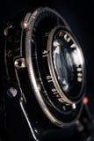 Un retro primo piano dell'obiettivo di macchina fotografica Immagini Stock Libere da Diritti