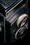 Un retro primo piano dell'obiettivo di macchina fotografica Immagini Stock