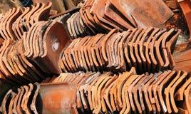 Un revoltijo de Clay Roof Tiles fotografía de archivo