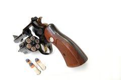 Un revolver e lle munizioni di 38 calibri Immagini Stock