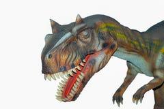 Un rex aislado asustadizo de los dinosaurios T de Dino Foto de archivo