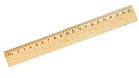 Un righello da venti centimetri Fotografia Stock