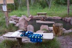 Un rilassamento si inzuppa nella regione selvaggia di gila Immagini Stock