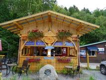 Un ristorante adorabile in Saint Rosa du Nord nel Canada Immagine Stock Libera da Diritti