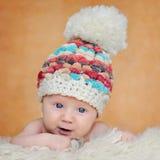 Un ritratto adorabile di due mesi del bambino Fotografia Stock