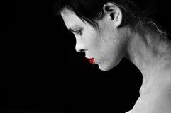 Un ritratto in in bianco e nero Fotografia Stock Libera da Diritti