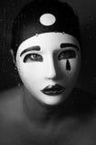 Un ritratto con la maschera di pierrot Fotografia Stock