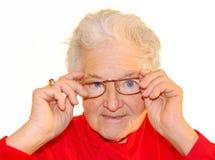 Un ritratto della donna anziana fotografia stock libera da diritti
