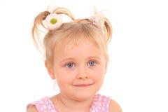 Un ritratto di 4 anni della ragazza Fotografia Stock