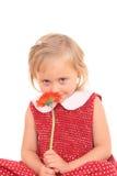 Un ritratto di 4 anni della ragazza w Immagine Stock