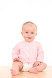 Un ritratto di 6 mesi di neonata Immagini Stock