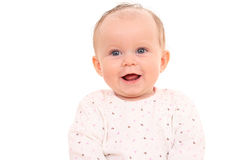 Un ritratto di 6 mesi di neonata Fotografia Stock Libera da Diritti