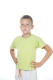 Un ritratto di 7 anni del ragazzo Fotografia Stock