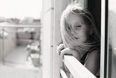 Un ritratto di 5 anni della ragazza Fotografia Stock Libera da Diritti