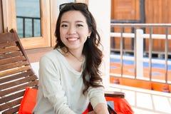 Un ritratto di bella donna asiatica Immagini Stock