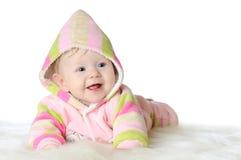 Un ritratto di cinque mesi della neonata Fotografia Stock Libera da Diritti