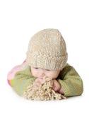 Un ritratto di cinque mesi di uso della neonata Fotografie Stock Libere da Diritti