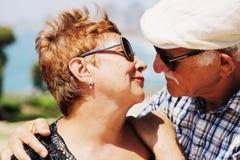 Un ritratto di due 70 anni della gente dell'anziano Fotografia Stock Libera da Diritti