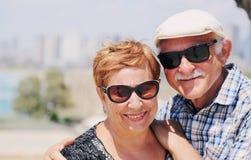 Un ritratto di due 70 anni della gente dell'anziano Fotografia Stock