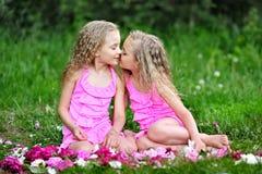 Un ritratto di due bambine Fotografie Stock