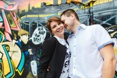 Un ritratto di due bei giovani amanti Immagini Stock Libere da Diritti
