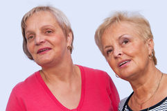 Un ritratto di due donne Immagine Stock