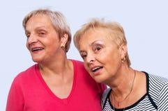 Un ritratto di due donne Immagini Stock
