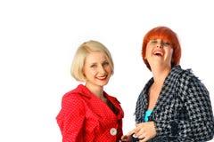 Un ritratto di due donne felici Immagine Stock Libera da Diritti