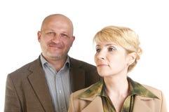 Un ritratto di due genti di affari Immagine Stock Libera da Diritti