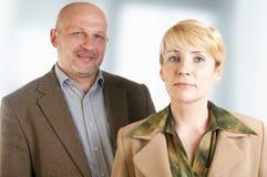 Un ritratto di due genti di affari Fotografie Stock Libere da Diritti