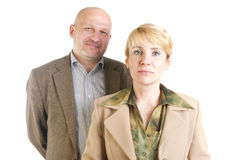 Un ritratto di due genti di affari Fotografia Stock Libera da Diritti