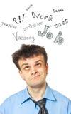 Un ritratto di giovane uomo d'affari comico Immagini Stock