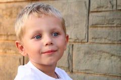 Un ritratto di tre anni del ragazzo Fotografie Stock Libere da Diritti