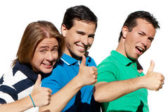 Un ritratto di tre giovani adolescenti. Immagini Stock