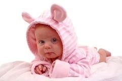 Un ritratto di tre mesi della neonata Immagine Stock