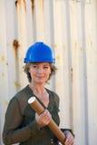 Un ritratto di un assistente tecnico di costruzione fotografie stock libere da diritti