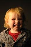 Un ritratto di un bambino impertinente Fotografie Stock