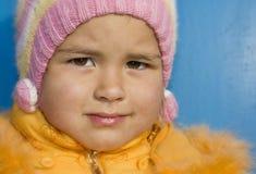 Un ritratto di una bambina piacevole Fotografia Stock Libera da Diritti