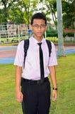 Un ritratto di uno studente di college asiatico Fotografia Stock
