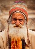 Un ritratto sparato dell'uomo anziano Fotografie Stock Libere da Diritti