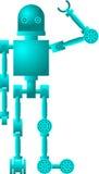 Un robot accoglie illustrazione vettoriale