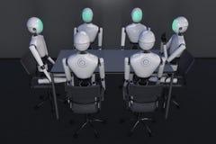 Un robot moderno ilustración del vector