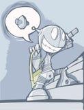 Un robot très enthousiaste Images stock