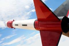 Un Rocket rouge, blanc et noir Images stock